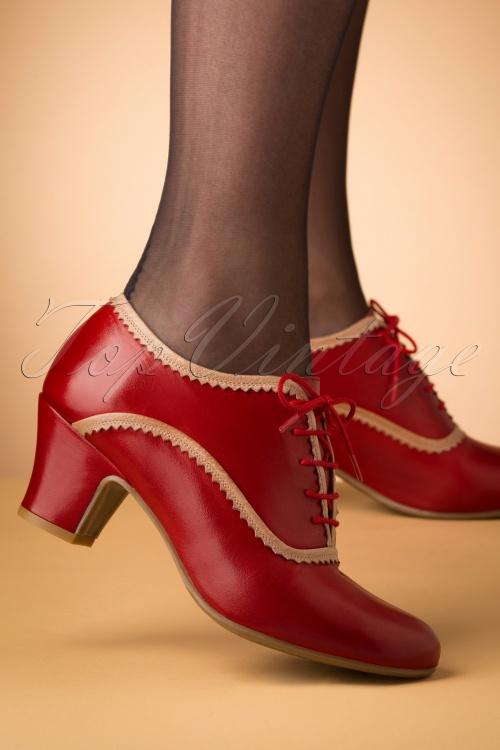 Miz Mooz 30049 Farren Bootie Red Heels Beige 20190618 005 W