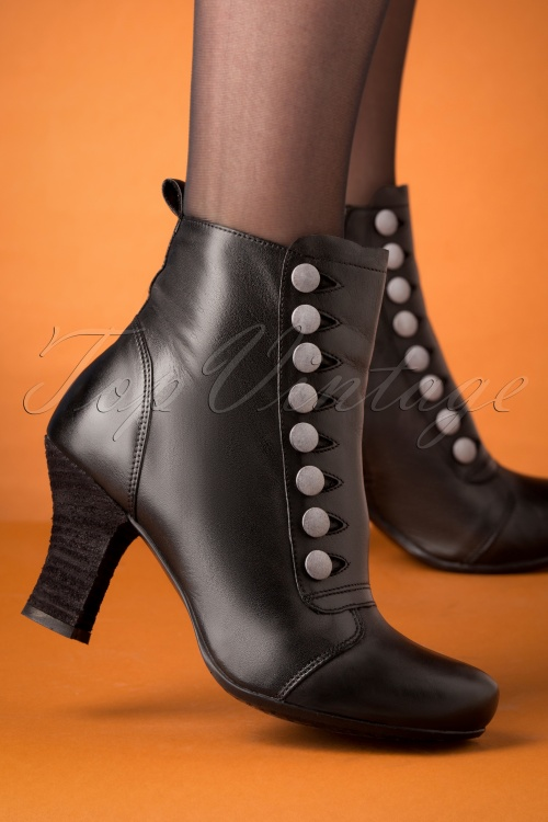 Miz Mooz 30052 Kips Ankle Boot Black Silver 20190618 007 W