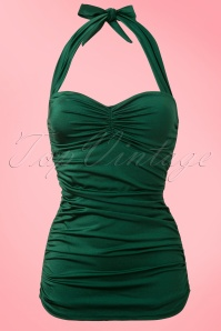Esther Williams  Classic fifties Bathing Suit Emerald Green 161 40 12102 20140219 0005 FrontW