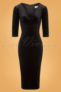 Vintage Chic 31536 Black Velvet Dress 20191213 0004W