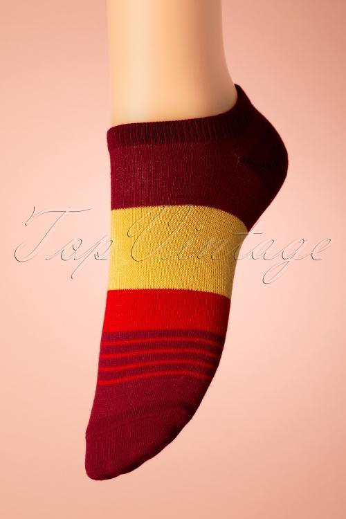 Sukeno 28418 Lipstick Socks in dark red 20191205 008W
