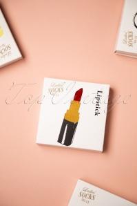 Sukeno 28418 Lipstick Socks in dark red 20191205 007W