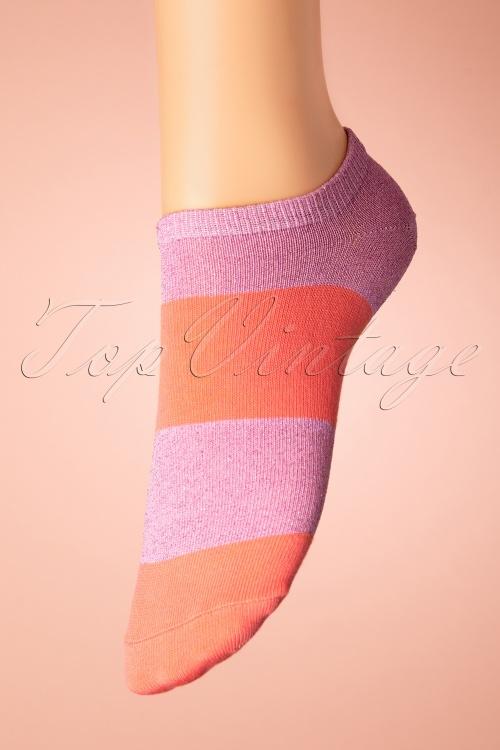 Sukeno 28419 Nail polish Socks in pink 20191205 010W