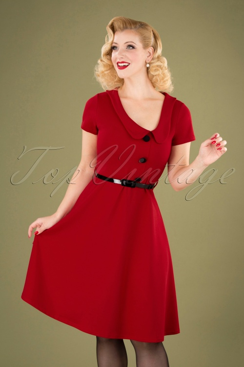 Vintage Chic 28721 Red Swing Dress 20190802 040MW
