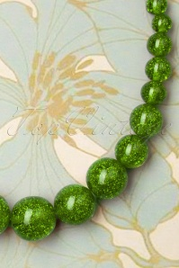 Splendette 33072 Leaf Green Necklace Glitter 191220 004