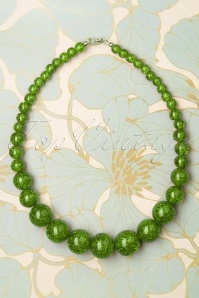 Splendette 33072 Leaf Green Necklace Glitter 191220 002