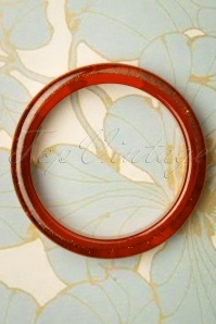 Splendette 33068 Amber Orange Glitter Bangle 191220 003 W