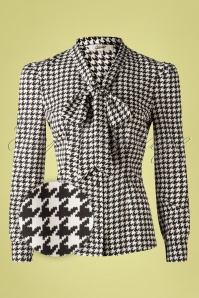 Belsira 33227 Blouse White Black Dots20200106 003Z