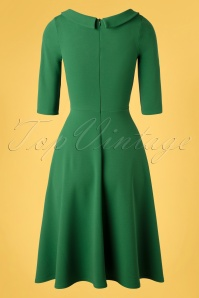 Vintage Chic 33343 Scuba Crepe Fit Flare emerald20200106 010W