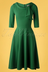 Vintage Chic 33343 Scuba Crepe Fit Flare emerald20200106 002W