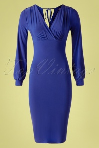 Vintage Chic for TopVintage 50s Genesis Bodycon Dress in Royal Blue