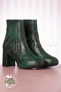 Loloa Ramona 30274 Ankle Boots Elleen Green Snake 20200106 015V