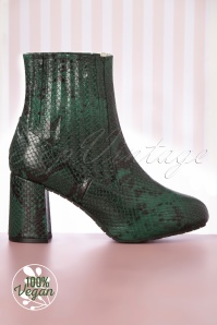 Lola Ramona 60s Eileen Ankle Booties in Green
