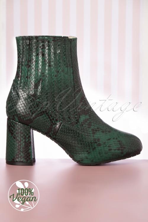 Loloa Ramona 30274 Ankle Boots Elleen Green Snake 20200106 006V