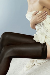 Couture Ultimates 50s Perfectly Sheer Tri Band Hold Ups in Black
