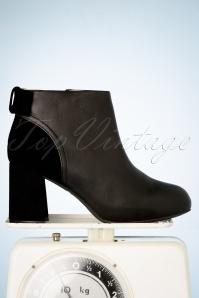 Lola Ramona Topvintage Boutique 30428 Eileen Black Heels Booties Bow 200108 004 W