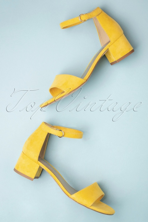 Tamaris 32343 Sandals Yellow Velvet 20200109 029W