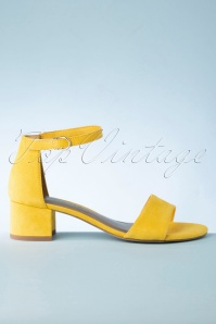 Tamaris 32343 Sandals Yellow Velvet 20200109 016W