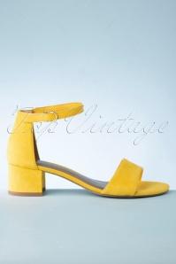 Tamaris 32343 Sandals Yellow Velvet 20200109 016W