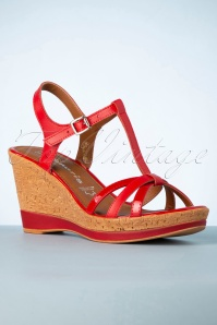 Tamaris 60s Wendy Wedges in Red