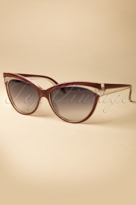 Collectif Clothing Judy Classic 50s Cat Eye Sunglasses Red 260 20 12856 20140516 0010 W