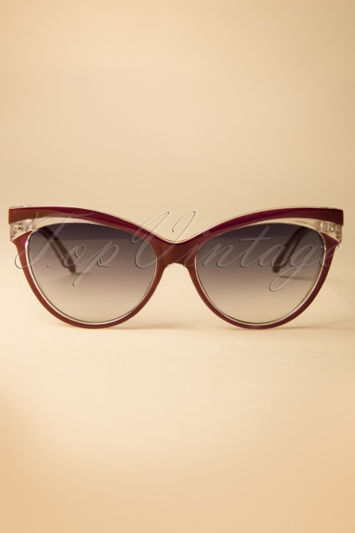 Collectif Clothing Judy Classic 50s Cat Eye Sunglasses Red 260 20 12856 20140516 0001 W
