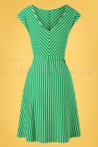 King louie 31705 Grace Breton Stripe Dress Very Green20191209 011W