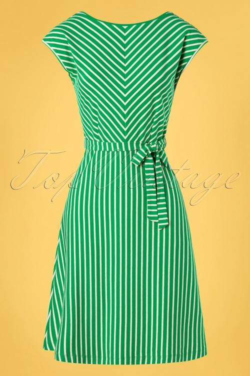 King louie 31705 Grace Breton Stripe Dress Very Green20191209 002W