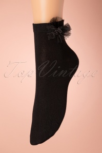 50s Iris Socks in Black