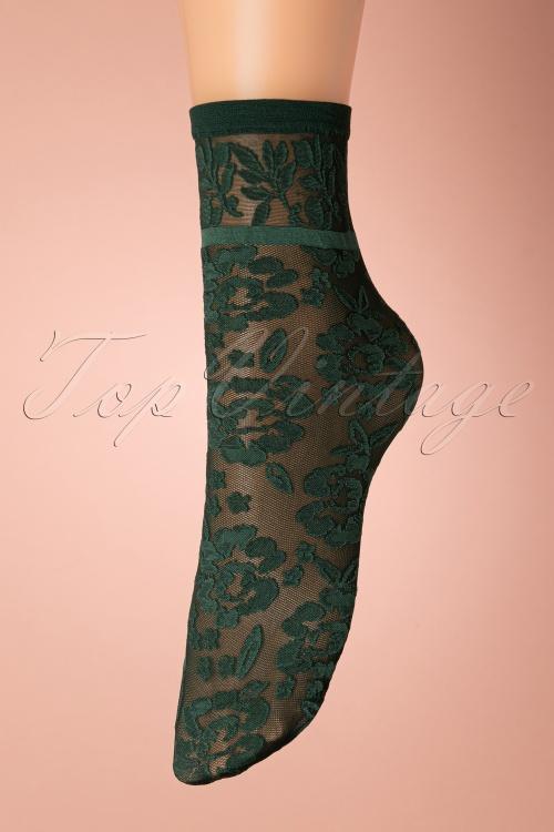 Marcmarcs 31989 Green 50s floral socks 01092020 004W