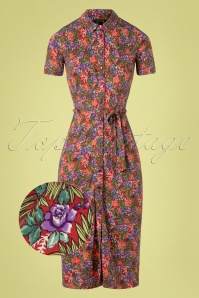 60s Rosie Slim Fit Bahama Dress in Apple Pink