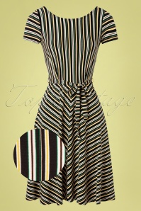 King Louie 31715 Swingdress Sally Gelati Black Stripes 20191210 005Z
