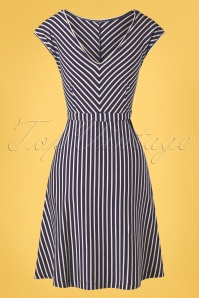 King louie 31706 Grace Breton Stripe Dress Blue 20191209 011W