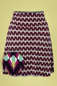 60s Namaste Border Skirt in Vivid Purple