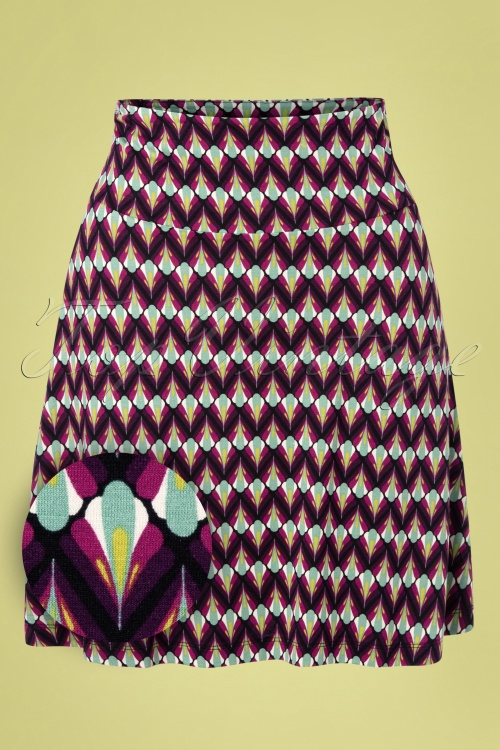 King Louie 31743 Namaste Border Skirt Vivid Purple20191204 006Z