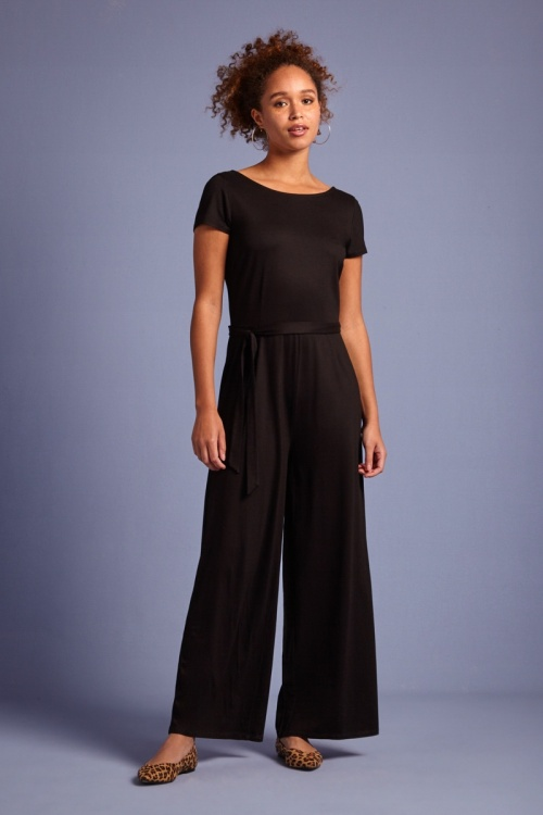 KingLouie 31760 Sally Ecovero Jumpsuit in Black 20200114 020L