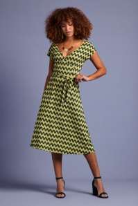 70s Mira Namaste Dress in Spar Green