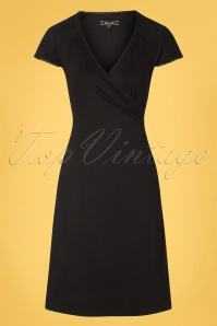 60s Ecovero Classic Cross Dress in Black