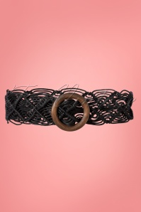 Collectif 31828 Elsie Boho Belt Black200113 005 W