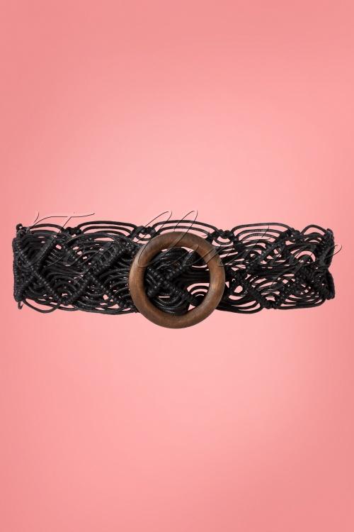 Collectif 31828 Elsie Boho Belt Black200113 005 W