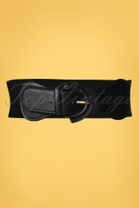 50s Maxine Cinch Stretch Belt in Black