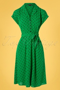 40s Darcy Pablo Dress in Very Green