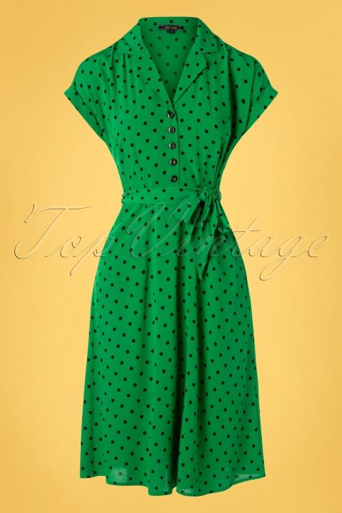King louie 31664 Darcy Dress Pablo Very Green20191209 002W