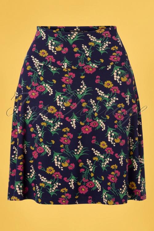 King louie 31673 Valley Border Skirt Blue20191209 002W