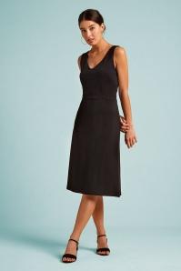 60s Lucia Milano Dress in Black