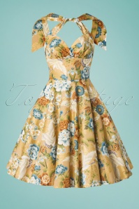 Victory Parade 33191 Swingdress Gold Sissy Asia Floral 011320 005W