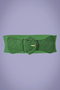 Collectif Clothing 50s Maxine Cinch Stretch Belt in Green