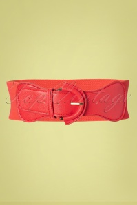 Collectif Clothing 50s Maxine Cinch Stretch Belt in Red