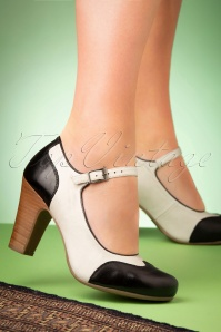 Miz Mooz 50s Jazzy Pumps in Black and Ice