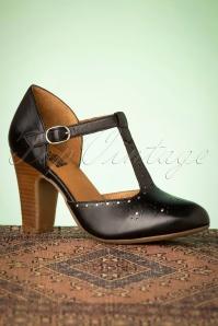 Miz Mooz 32074 Joelle Black Heels Silver Tstrap 200110 004 W
